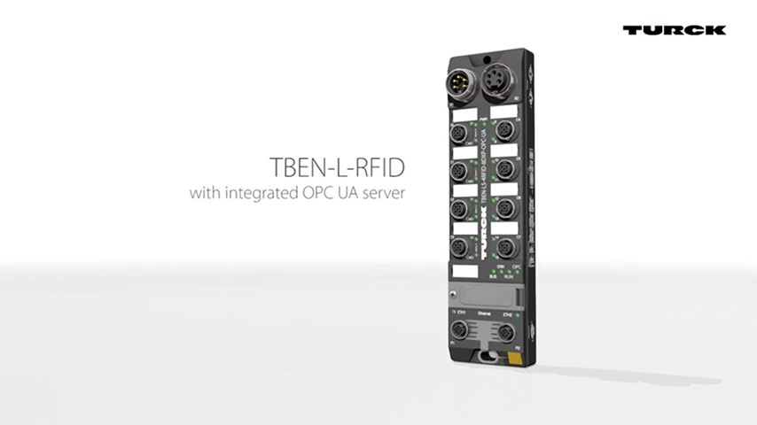 Compact IP67 RFID modules with OPC UA server